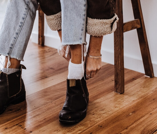 Type Of Socks To Wear With Boots - ideal length of socks