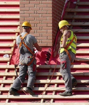 What Are Good Shoes For Roofing - two roofers