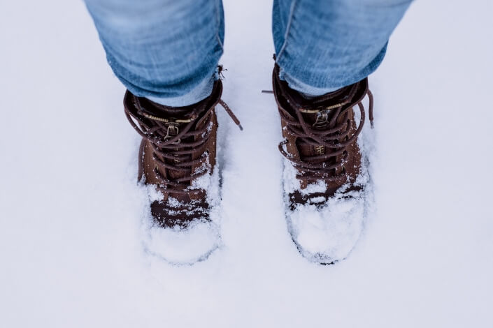 water resistant - boots on snow