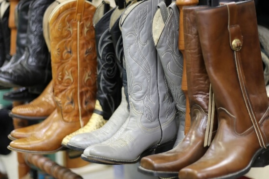 Best Socks To Wear With Cowboy Boots For Extra Comfort - boots on the counter